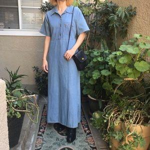 Vintage blue denim Vintage Studio maxi dress